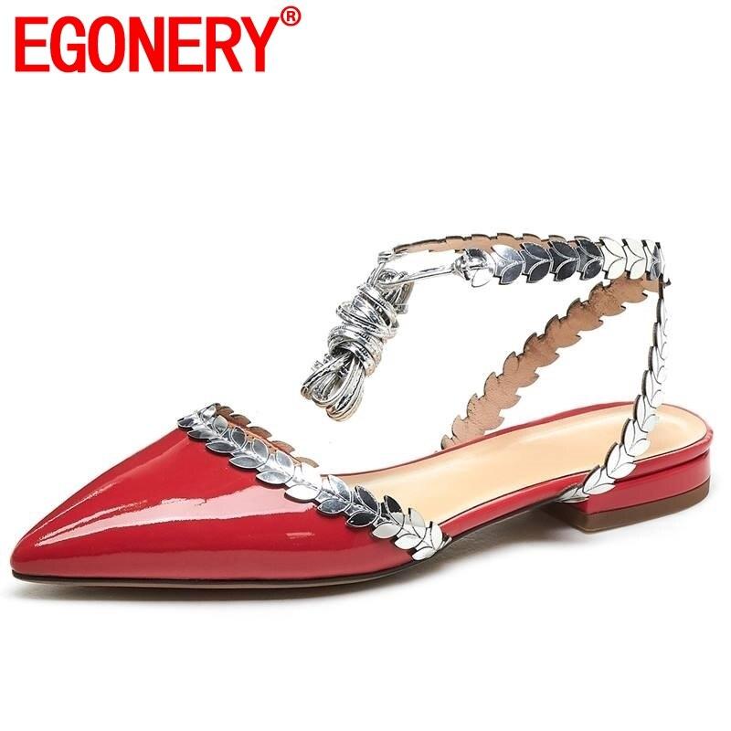 Egonnerie véritable cuir de vache femmes sandales été amour motif ébouriffé mode rouge mignon fille confortable femme enceinte chaussures plates