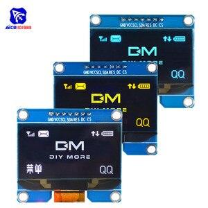 Модуль ЖК-дисплея diymore, 7-контактный OLED дисплей 1,54 дюйма, SSD1309 SPD0301 SPI I2C интерфейс 12864 OLED экран 3,3-5 в для Arduino AVR STM32