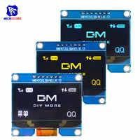 """Diymore 1,54 """"7PIN OLED pantalla LCD módulo SSD1309 SPD0301 SPI I2C interfaz 12864 pantalla OLED 3,3-5 V para Arduino AVR STM32"""