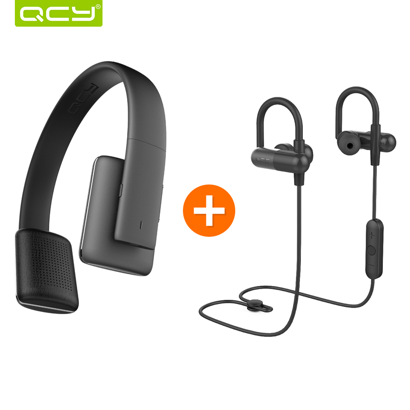 QCY QCY50 noise cancelling headphones HIFI font b 3D b font stereo sound headset wireless bluetooth