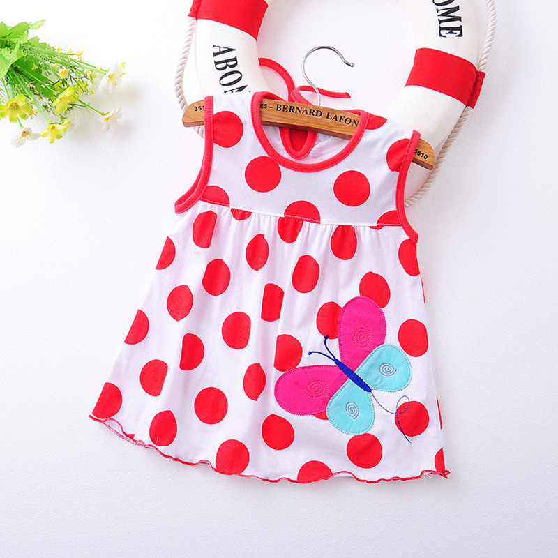 03af4ec13 2017 Summer 1 year Baby Girl Cotton Dress Infant Kids Princess ...