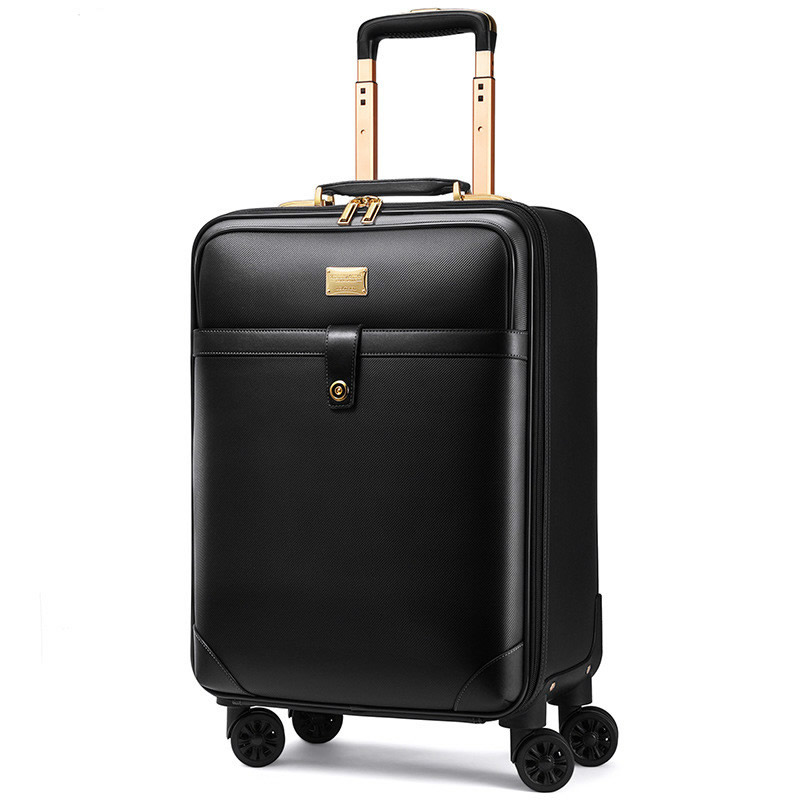 цена на Fashion Men Women 's Travel Luggage Suitcase ,Waterproof PVC leather Box with Wheel ,16202224 inch Rolling Trolley case