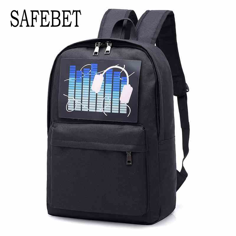 SAFEBET New Fashion Multi-function USB Intelligent Voice-activated Backpack Computer Bag Waterproof Large Capacity Travel backpa