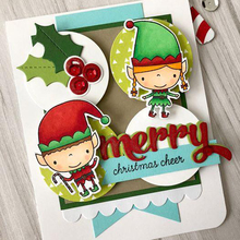 Christmas Elf Gift Transparent Clear Silicone Stamp for DIY Scrapbooking/Photo Album Cards Making Decorative 4x4