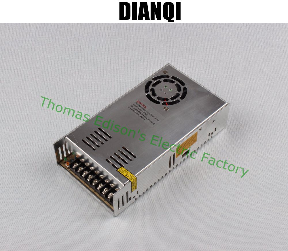 DIANQI led power supply switch 350W  48v  7.3A ac dc converter  S-350w  48v variable dc voltage regulator S-350-48 dianqi led power supply switch 350w 5v 50a ac dc converter s 350w 5v variable dc voltage regulator s 350 5