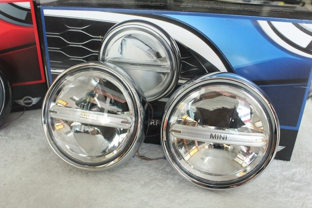 Brand New Chrome And Black Original Manufacture Led Spot Lamp Part For Mini Cooper All Series