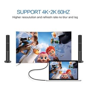 Image 3 - QGeeM USB C كابل وصلة بينية مُتعددة الوسائط وعالية الوضوح 4K نوع C HDMI Thunderbolt 3 محول لماك بوك هواوي ماتي 30 USB C محول HDMI USB نوع C إلى HDMI