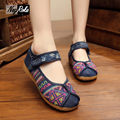 New design thickened soles shoes women retro delicate embroidery Female canvas shoes casual oxford shoes for women ladies flats
