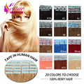 "16""18""20""22""24"" 100% Natural Hair, Remy Tape Hair, Tape Hair Extension 20pcs/set 20 Colors Optional Tape In Human Hair"