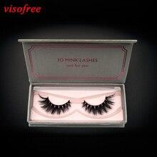 visofree Eyelashes 3D Mink Lashes Handmade High Volume False Eyelashes Full Strip Lashes Mink Lashes Cruelty free Reusable Lash
