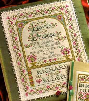 Fishxx Cross-Stitch Col144-2 flowers [Melody of Love] 14ct kit