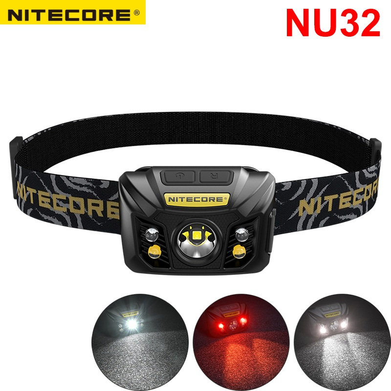 NITECORE NU32 CREE XP G3 S3 LED 550 lumens Built In Rechargeable Battery Headlamp Gear Outdoor