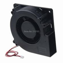 10PCS Gdstime DC 5V 2Pin 120mm 120x32mm 12032 Ball Brushless DC Blower Black Cooling Exhaust Blower Fan 1 pcs brushless dc blower fan 5v 6015s 60x60x15mm 2pin
