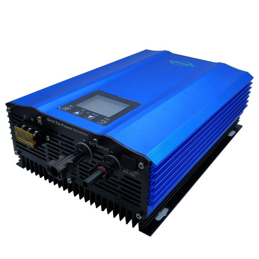 1000 w grille inverseur de cravate Couleur affichage DC à AC de travail à Haut rendement pour PV batterie décharge pur onde sinusoïdale accueil Système solaire