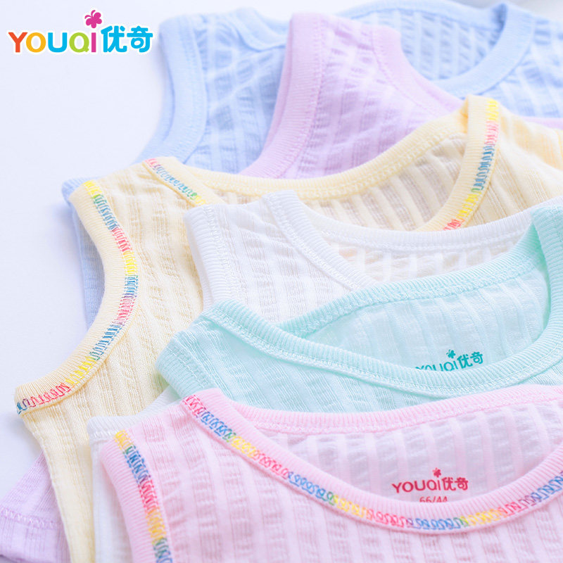 YOUQI Thin Summer Baby Clothing Set Cotton T-shirt Pants Vest Suit Baby Boys Girls Clothes 3 6 to 24 Months Cute Brand Costumes стоимость