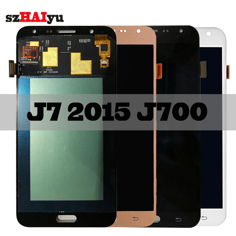 SZHAIYU Touch Screen Digitizer For Samsung Galaxy J7 2015 J700 J700H J700FN J700F J700M LCD Display 1920x1080 5.5 AMOLED LCDSZHAIYU Touch Screen Digitizer For Samsung Galaxy J7 2015 J700 J700H J700FN J700F J700M LCD Display 1920x1080 5.5 AMOLED LCD