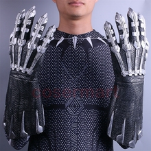 A Pair of Two 2018 Movie Black Panther Claws Gloves Cosplay Costume Superhero Halloween Prop