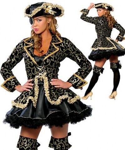 4 PCS high quality plus size Sexy Pirate costumes font b women b font Halloween Costume
