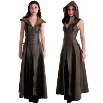 косплэй костюм средневековое Платье без рукавов