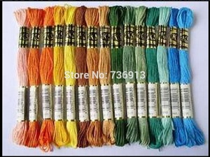 Image 2 - 당신은 어떤 색상을 선택할 수 있습니다 유사 dmc 1 lot = 2682 pieces 자수 스레드 원사 치실