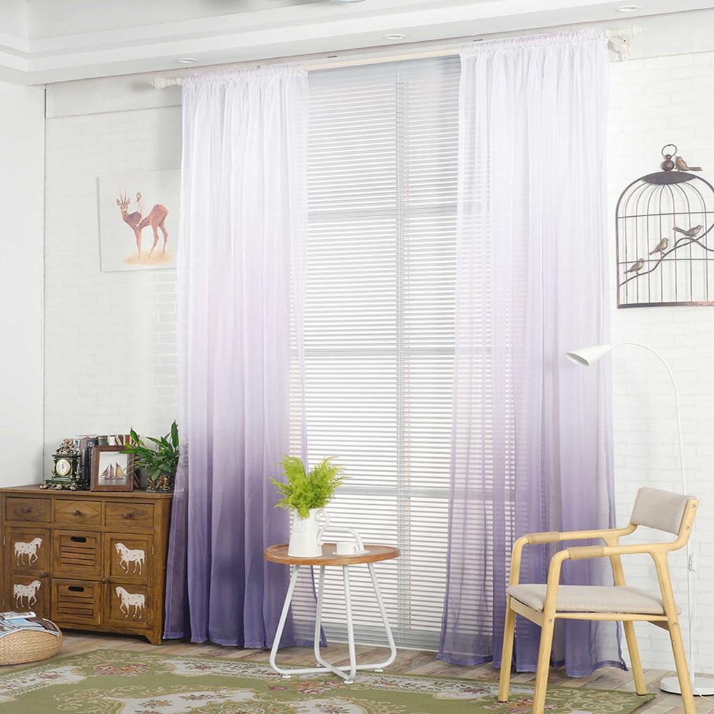 Unparteiisch Gradienten Europäischen Stil Jacquard Design Home Dekoration Moderne Vorhang Tüll Stoffe Organza Sheer Panel Fenster Behandlung Weiß Haus & Garten