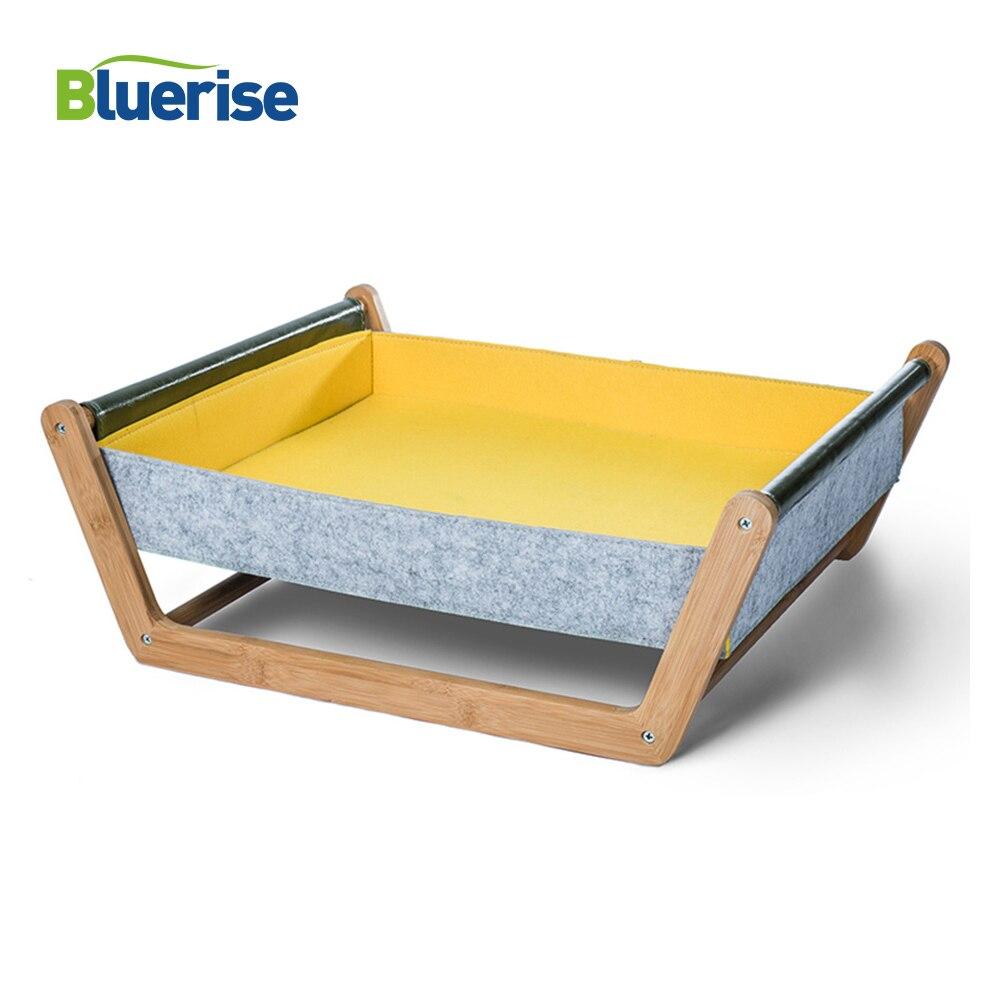BLUERISE chat hamac en bois chien maison Pet suspendu lit doux sommeil chat lit maison coussin tapis mode confortable bois chat maison