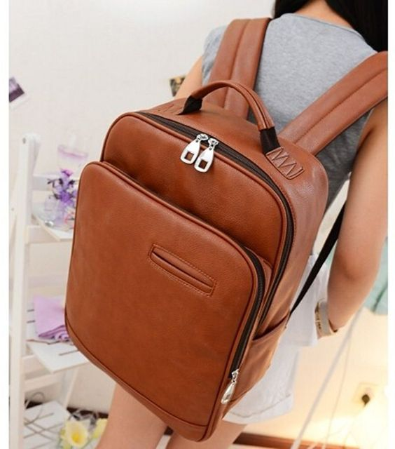 317770ed9cb6 New Arrivals Leather Backpack Women Preppy Style School Bag Women Leather  Back Bag Outdoor Travel Lady Backpack WHB12