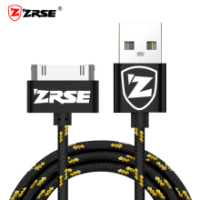 ZRSE Braided Nylon USB Cable for iPhone 4 4s Data Sync Charging Mobile Phone Cable 1M 2M 3M Metal USB Charger for iPad 2 3 Cord(China)