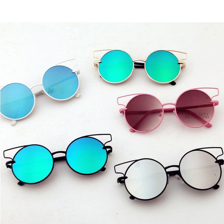 NOVÉ Dětské kulaté antireflexní čočky Letní brýle Cool Lovely Girls Roztomilé sluneční brýle Coating Kids oculos de sol N776