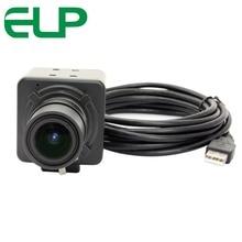 ELP Free driver High resolution HD 5MP CMOS OV5640 5-50mm Manual Varifocal Mini Box 5MP USB Camera for Android Linux Windows
