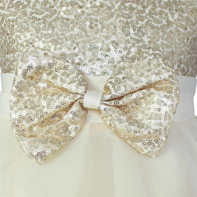 Детское платье до колена с блестками и цветочным узором для девочек от 2 до 14 лет Детские вечерние бальные платья на свадьбу, платье принцессы на выпускной, официальное мероприятие, платье для девочек