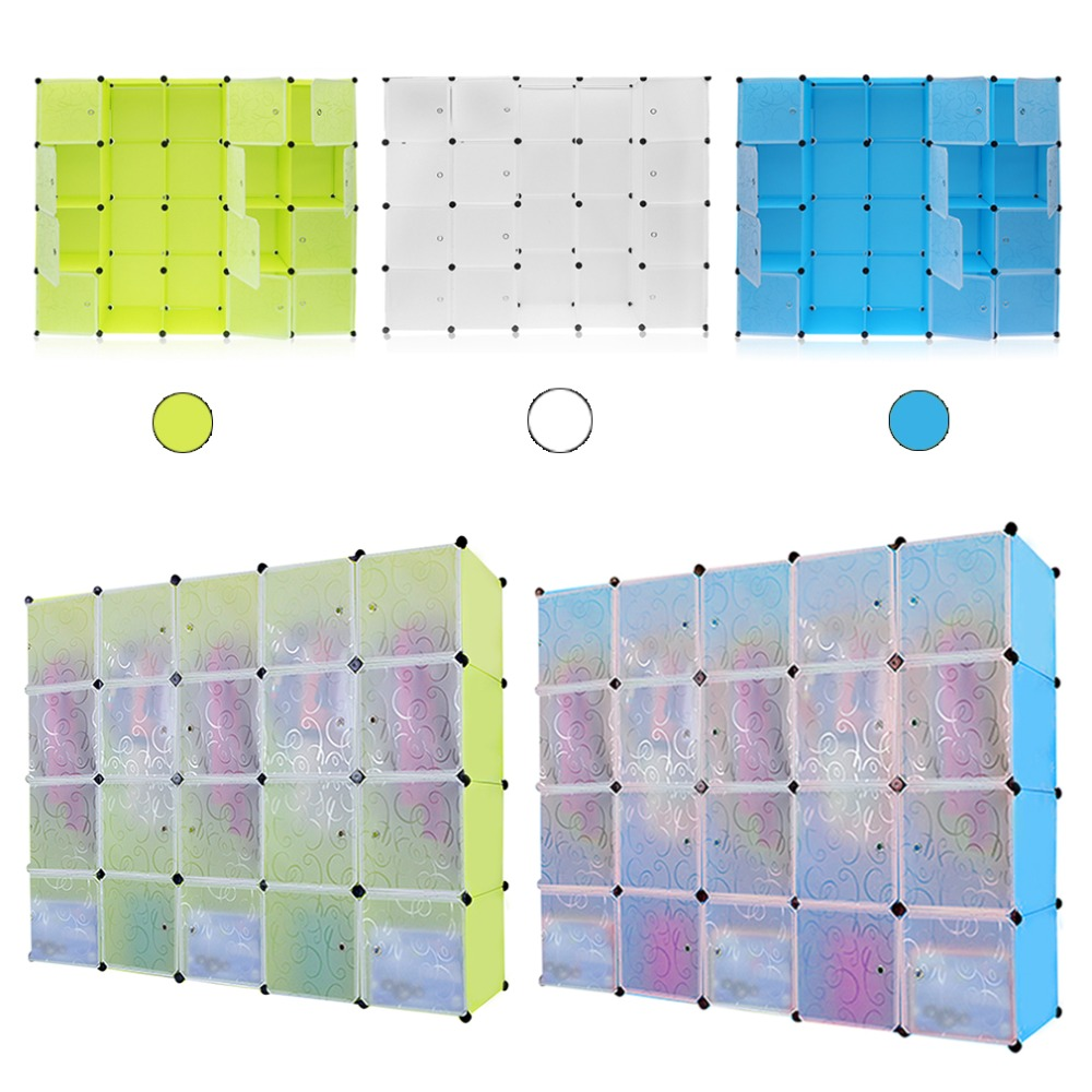 12 Grids+2 rows wardrobes Simple Resin Storage Box Cabinet DIY Assembled Extra Large Magic Child Wardrobe Closet Organizer child simple wardrobe storage cabinet baby wardrobe toy storage clothing box toys box