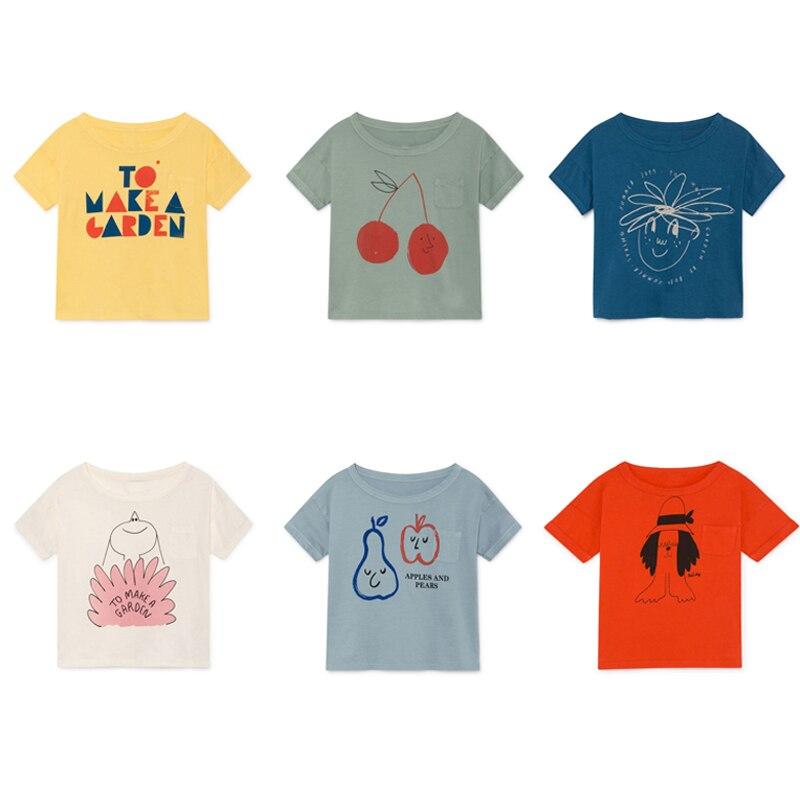 Детская футболка с коротким рукавом, хлопковая Футболка для мальчиков и девочек, летняя футболка, 2019|Тройники| - AliExpress