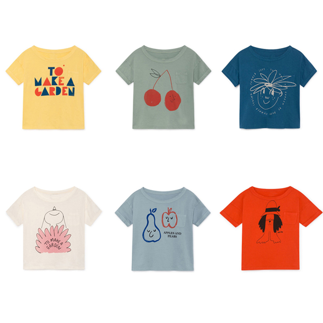 New BOBO CHOSES 2019 Summer T shirt For Girls Boys Cotton Short Sleeve Kids T shirt Children's Tshirt Toddlers Clothes Tops Tees