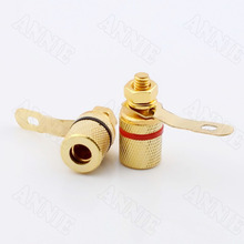 100pcs/lot  Speaker Wire Terminal Banana Plug Connector Horn Cable Audio Socket цена и фото