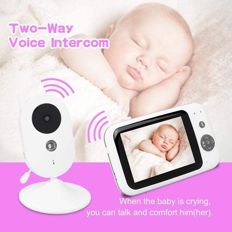 3.5 Pouces babyphone vidéo 2Way Interphone Musique des Bébés Pleurer Sans Fil LCD caméra embarquée Avec Moniteur
