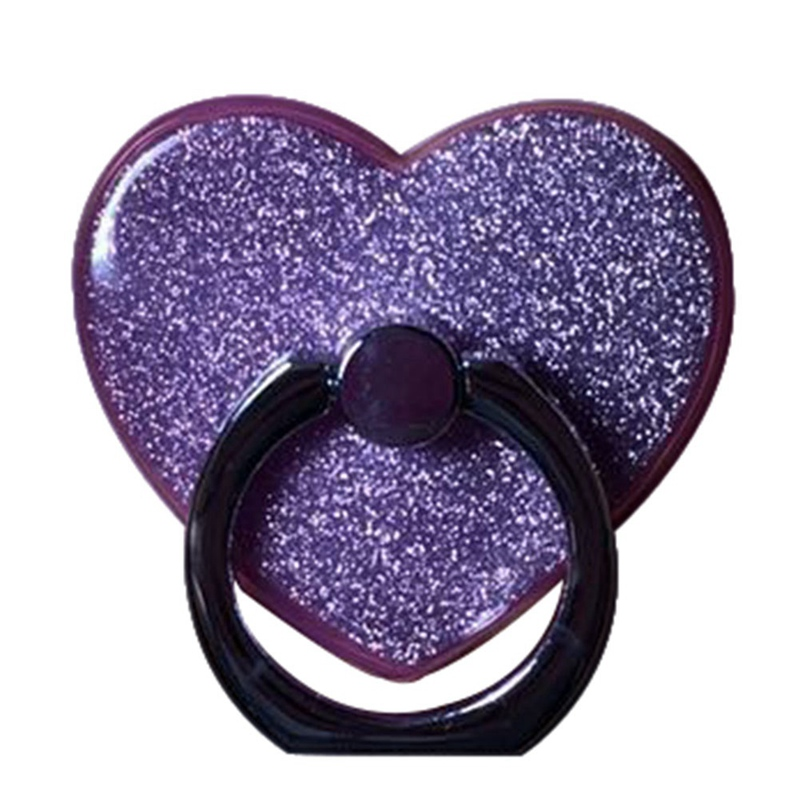 New Fashion Socket Fidget Creative Love Heart Shaped Mobile Phone Ring Bracket Moblie Phone Holder
