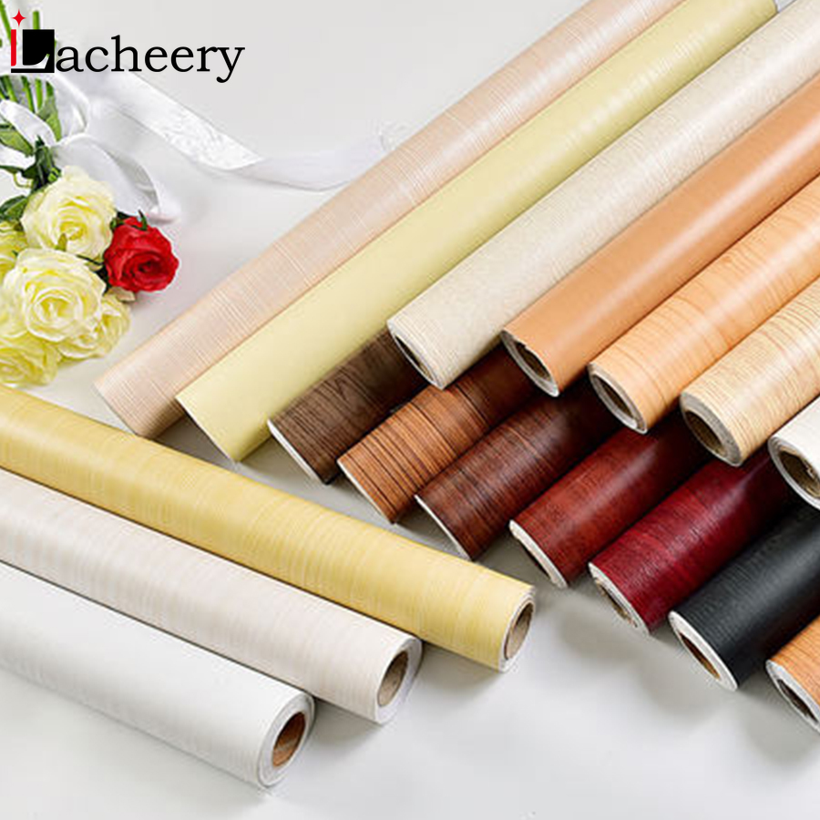 New Wood Grain Wallpaper Vinyl Self Adhesive Decorative Film For Living Room Kitchen Cupboard Furniture Waterproof Contact Paper