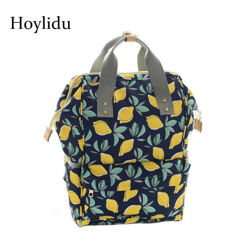 New Women Multifunctional Mummy Bags Waterproof Nylon Portable Large Capacity Baby Bottle Mother-to-child Shoulder Bag Backpacks