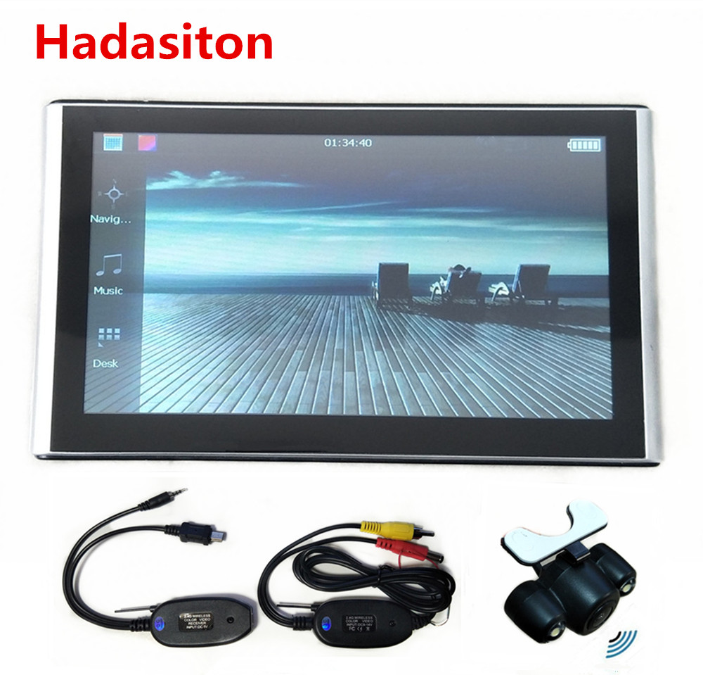 "7"" Capacitive screen Car GPS Navigation 256M8GB Sat Nav with Free new Maps,Wireless Rearview camera Reversing parking assistance(China)"