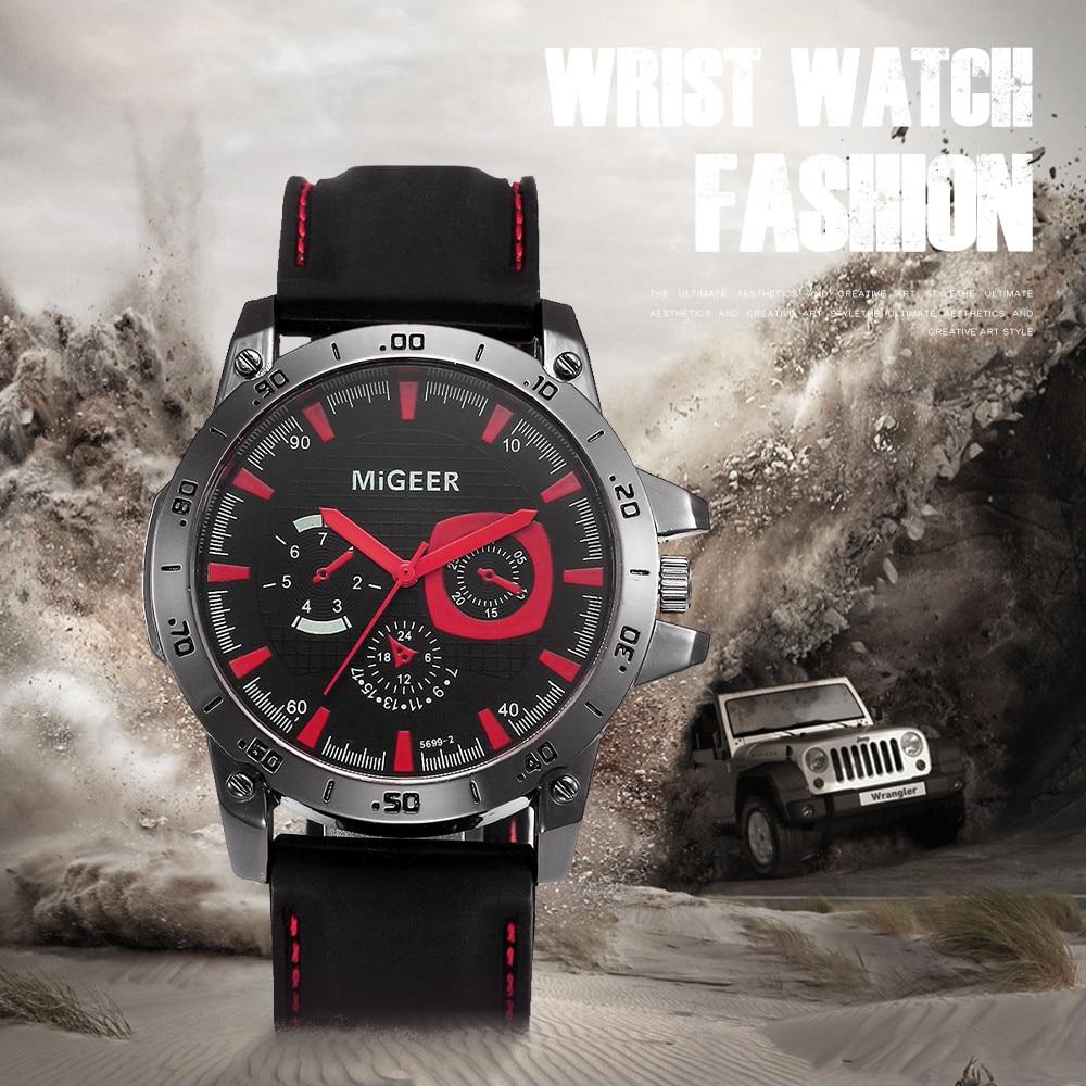 MIGEER 2019 Men Fashion Silicone Strap Sport Cool Quartz Hours Wrist Analog Watch Men Watch Waterproof Relogio Masculino Gift