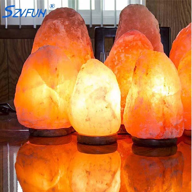 Szvfun Salt Lamp Natural Crystal Rock Night Light Healthy ...
