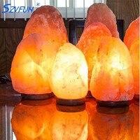 Szvfun Salt Lamp Natural Crystal Rock Night Light Healthy Himalayan Salt Lamp Table Luminaria for Air Purification Nachtlampje