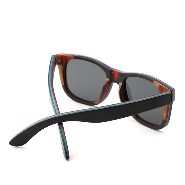 New Product Men/Women Wooden Sunglasses Skateboard Wood Polarized Sun glasses High Quality