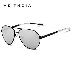 Image 5 - VEITHDIA Fashion Brand Designer Aluminum Magnesium Mens Sun Glasses Polarized Mirror lens Male Eyewear Sunglasses For Men 3801