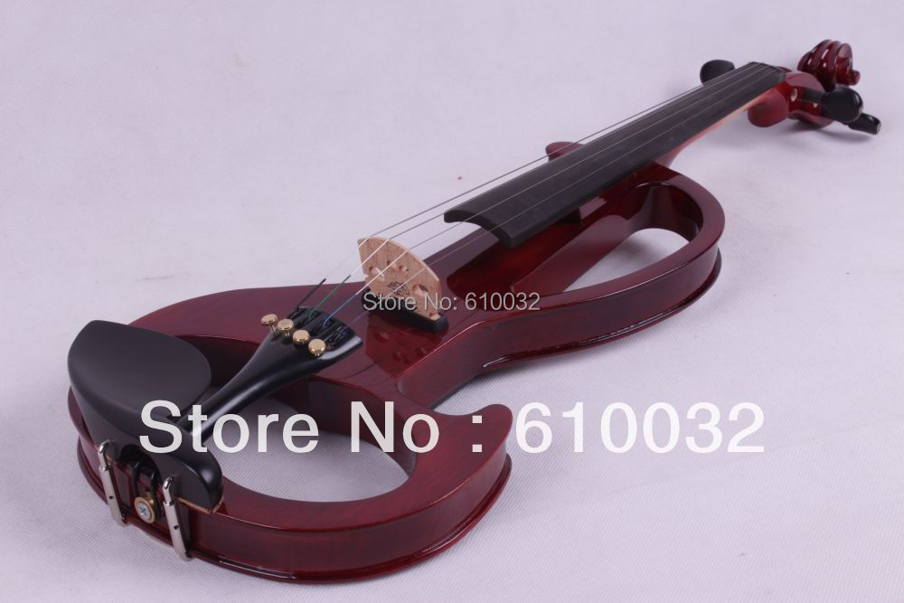 4/4 Electric Violin Solid wood 6 --19# silvery  red   color   4 string4/4 Electric Violin Solid wood 6 --19# silvery  red   color   4 string