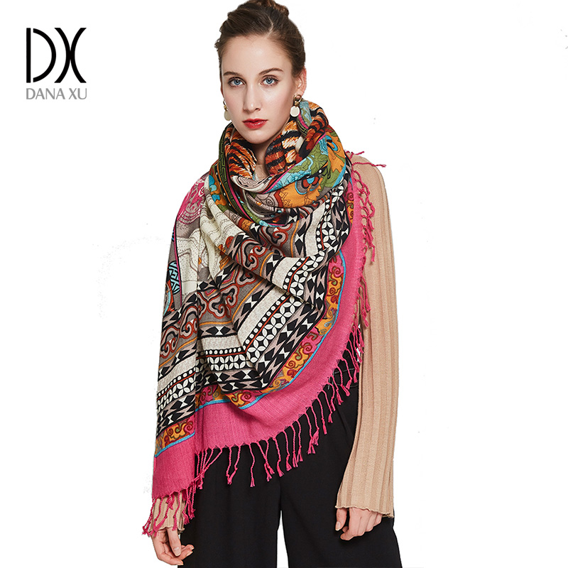 Luxury Brand Wool Scarf Muslim Hijab Fashion Scarves and Shawls Women Brand Scarf Pashmina Shawl Face