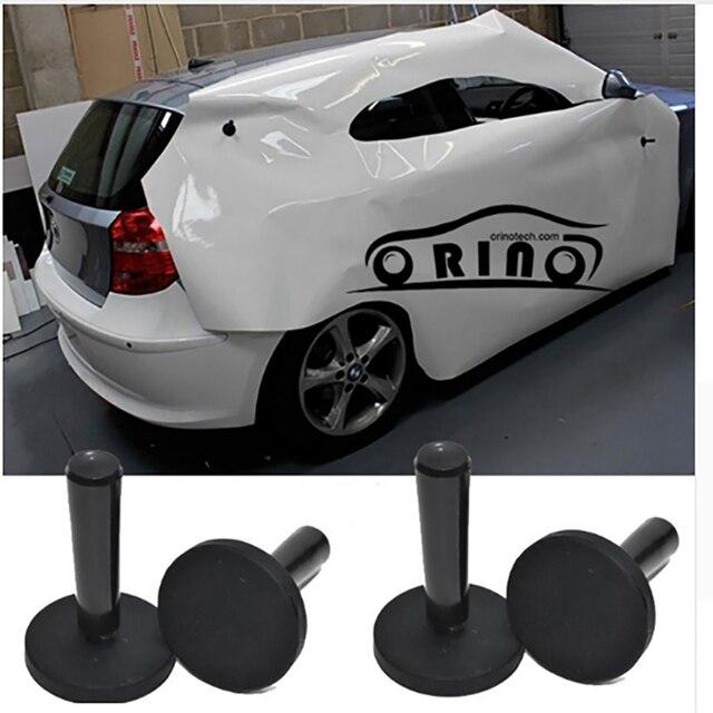 EHDIS 4pcs Carbon Fiber Car Foil Magnet Holder Vinyl Film Car Wrap Strong Magnetic Application Tool Auto Car Sticker Accessories