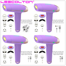 2018Populer Ungu Lescolton 400000 kali ditembak Epilator Lady Foton Laser Wajah Hair Removal Depilatori Shaver Razor
