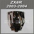 New  Motorcycle Part 2003 2004 03 04 For Kawasaki ZX6R Windshield/Windscreen Silver